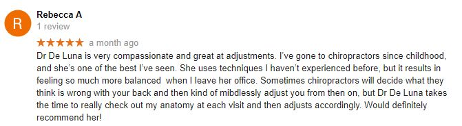 In Balance Chiropractic and Acupuncture Patient Testimonial